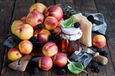 peaches, blackberries and cheese by The Little Squirrel