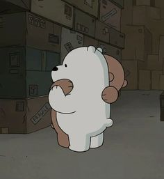 "21.1k Likes, 1,011 Comments - We Bare Bears (@webarebears.official) on Instagram: ""Tag someone you want to hug ❄ #grizz #icebear #hug #sad"""
