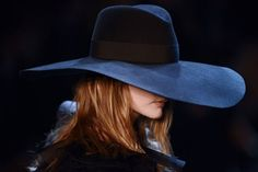 oversized fedoras at Saint Laurent Spring 2013. love.