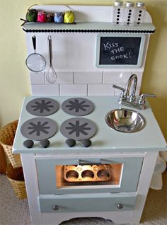 DIY kitchen - cute stove top