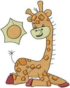 Cute Giraffe Embroidery Design - Animals Embroidery Designs - AnnTheGran.com