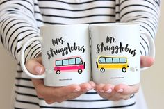 Mr. and Mrs. Strugglebus Coffee Mugs   His and Hers Coffee Mugs   Struggle Bus Funny Mug Gift Set