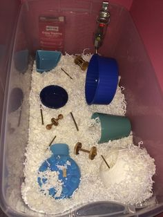 Proud of your hamsters cage - Page 819 - Supplies & Accessories Hamster Bin Cage, Hamster Pics, Hamster Care, Hamster Ideas, Mouse Cage, Funny Hamsters, Gerbil, Magical Creatures, Rodents