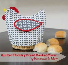Free Sewing Pattern and Tutorial - Quilted Bread Basket