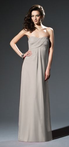 Dessy Style 2804 Bridesmaid Dress in Taupe, $198