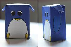 stick ton carton diy pingouin par www.petits-canaillous.fr