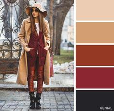 15 Perfectas combinaciones de colores al vestir para la temporada de frío