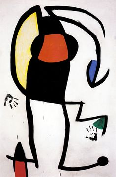 Juan Mirò. Woman in the street (1973).