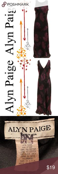 Alyn Paige Floral Maxi Dress Lovely Alyn Paige floral maxi dress in good used condition. Alyn Paige Dresses Maxi
