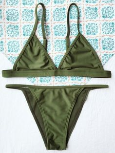 SHARE & Get it FREE   Tiny Unlined String Bikini Swimwear - Army GreenFor Fashion Lovers only:80,000+ Items • New Arrivals Daily Join Zaful: Get YOUR $50 NOW!