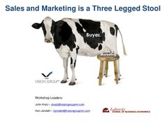Aligning Sales Marketing is a 3 Legged Stool Consultative Selling, Selling Skills, Milking Stool, Sales And Marketing