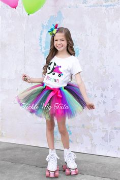 Roller Skate Themed Birthday Tutu Outfit-Skating por TickleMyTutu