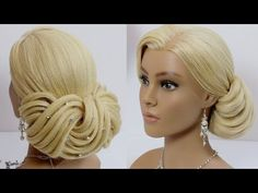 Bridal hairstyle for long medium hair tutorial. Wedding updo - YouTube
