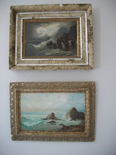 antique oil paintings... always on the lookout for vintage paintings like these at thrift stores ad antiques shows