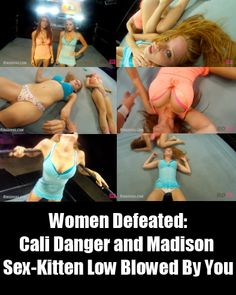 """Cali Danger and Madison Sex-Kitten take on YOU, in this match combining Ring Divas 2 popular series """"Ultimate Low Blows"""" and """"Private Sessions"""".   Check out my blog post to learn more about this awesome video.   http://womendefeated.com/cali-danger-and-madison-sex-kitten-low-blowed-by-you/"""