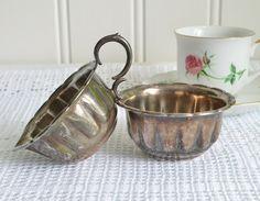 Creamer and sugar bowl set vintage Swedish by GrannyHannasCottage $15.00