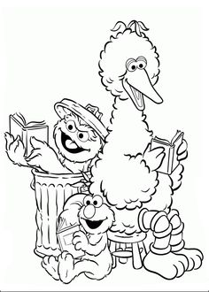 elmo reading books together coloring pages for kids printable elmo coloring pages for kids