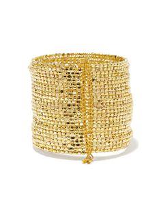 Golden Beaded Cuff - New York & Company