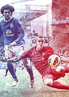 Plakaty na mecze Liverpoolu