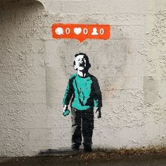 Funny pictures about Banksy On Social Network Madness. Oh, and cool pics about Banksy On Social Network Madness. Also, Banksy On Social Network Madness photos. Street Art Banksy, Banksy Graffiti, Arte Banksy, Bansky, Banksy Artwork, Banksy Posters, Graffiti Quotes, Graffiti Artists, Crying Kids