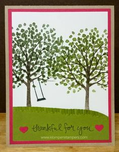 Klompen Stampers (Stampin' Up! Demonstrator Jackie Bolhuis): Sheltering Tree: Day 1