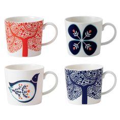 Royal Doulton Fine china 'Fable' set of four accent mugs- at Debenhams.com