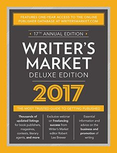 Writer's Market Deluxe Edition 2017 includes everything you expect in a regular copy of Writer's Market, PLUS a one-year subscription to WritersMarket.com. With it, you'll gain instant access to more than 7,500 listings for book publishers, magazines, contests, literary agents, and more--with daily updates.