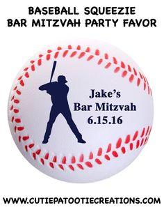 Baseball Logo Bar Mitzvah Party Favor - Stress Reliever