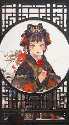 Character Inspiration, Character Art, Character Design, Anime Girl Neko, Anime Art Girl, Anime Girls, Character Illustration, Illustration Art, Geisha Art