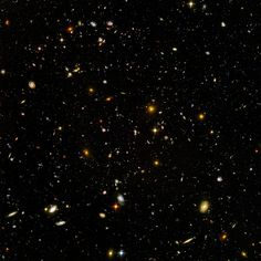 """The Hubble Ultra Deep Field Photo: Called """"the most important photo ever taken"""", the image shows hundred of galaxies."""