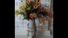 DIY Vase Mixed Media Style