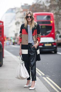 Streetstyle during London Fashion Week, Fall 2013
