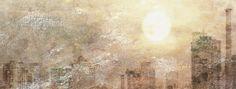 Prachtige afbeelding van een bijzondere sun city. Dit behang wordt uit één stuk voor u op maat gemaakt. Bestel dit op onze site samen met de lijm tot een perfect resultaat. Sun Art, Adobe, Prints, Painting, Image, Seeds, Cob Loaf, Painting Art, Paintings