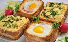 Beautiful sandwiches for breakfast