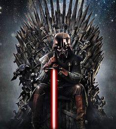 Resultado de imagem para darth vader sentado no trono de ferro