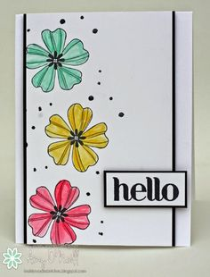 clean and graphic look . - handmade greeting card … Flower Shop … clean and graphic look . Handmade Greetings, Greeting Cards Handmade, Watercolor Cards, Flower Cards, Diy Cards, Graphic, Homemade Cards, Stampin Up Cards, Cardmaking