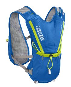 CamelBak 2016 Marathoner Hydration Vest, Electric Blue/Lime Punch. Our best-selling Vest, the marathoner is for the runner who wants a low-profile solution and Minimalist storage. Antidote reservoir features: Quick Link system, easy open/close cap, lightweight fill port, Dryer arms, center baffling and low-profile design. Features adjustable harness with cargo pockets, integrated reservoir compression, sweat-proof phone pocket, external fill. Designed to carry water bottle, extra layer...