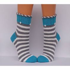 Wool socks Socks Hand-knitted women's socks Cuddly socks size - stitch magic by Dorothea H Crochet Socks, Knitting Socks, Baby Knitting, Knitted Baby, Free Crochet, Baby Boy Booties, Wool Socks, Baby Socks, Couture