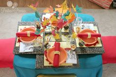 Kid Friendly Thanksgiving Table Setting