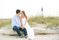 Coastal engagement session on Tybee Island. See more on Savannah Soiree. http://www.savannahsoiree.com/journal/sunset-engagement-session-on-tybee-island