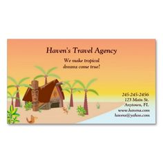 Tropical Business Card. I love this design! It is available for customization or ready to buy as is. All you need is to add your business info to this template then place the order. It will ship within 24 hours. Just click the image to make your own!