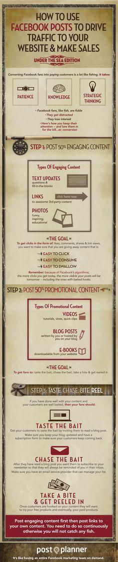 How To Use Facebook Posts To Drive Traffic To Your Website And Make Sales [infographic] via Angela LeBrun http://www.digitalinformationworld.com/2013/09/how-to-use-facebook-posts-to-drive.html?utm_content=buffer8f48f&utm_medium=social&utm_source=pinterest.com&utm_campaign=buffer