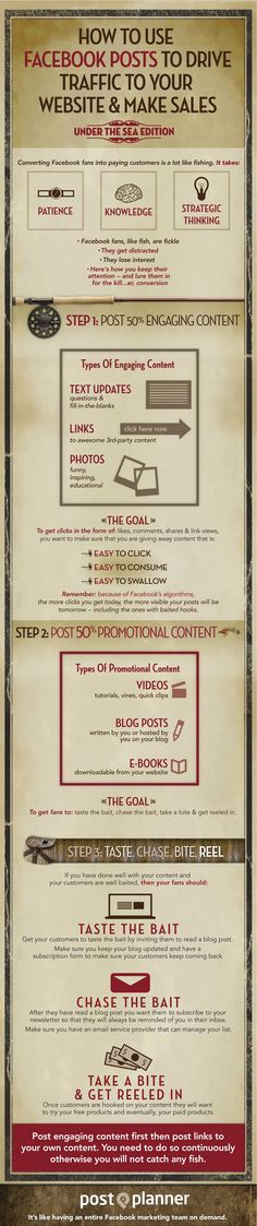 How To Use Facebook Posts To Drive Traffic To Your Website And Make Sales [infographic] via Angela LeBrun http://www.digitalinformationworld.com/2013/09/how-to-use-facebook-posts-to-drive.html?utm_content=buffer8f48f&utm_medium=social&utm_source=pinterest.com&utm_campaign=buffer