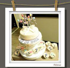 Wedding cake, baloons