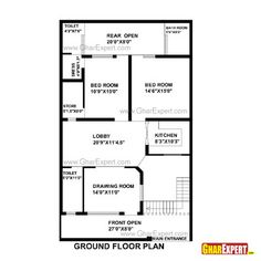 House Plan For 33 Feet By 55 Feet Plot (Plot Size 202 Square Yards)