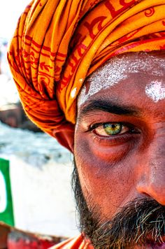 Eye Catching Sadhu - Maha Kumbh Mela, Allahabad, India