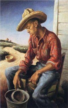The Waterboy, a 1946 masterpiece by the famous American painter Thomas Hart Benton