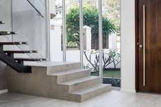 Builders & Designers of Exclusive Homes Concrete Stairs, Exclusive Homes, Open Up, Ground Floor, Living Area, House, Architects, Design, Home Decor