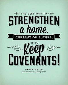 Keep covenants