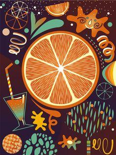 Fruit illustrations by Julia Drobova